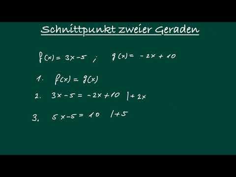 Schnittpunkt zweier Geraden berechnen - Lineare Funktionen from YouTube · Duration:  2 minutes 21 seconds