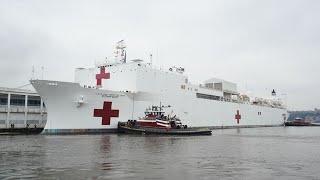 navy-ship-comfort-arrives-ny-city-hospital-beds