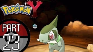 pokemon x and y part 23 connecting cave and route 8   catching axew