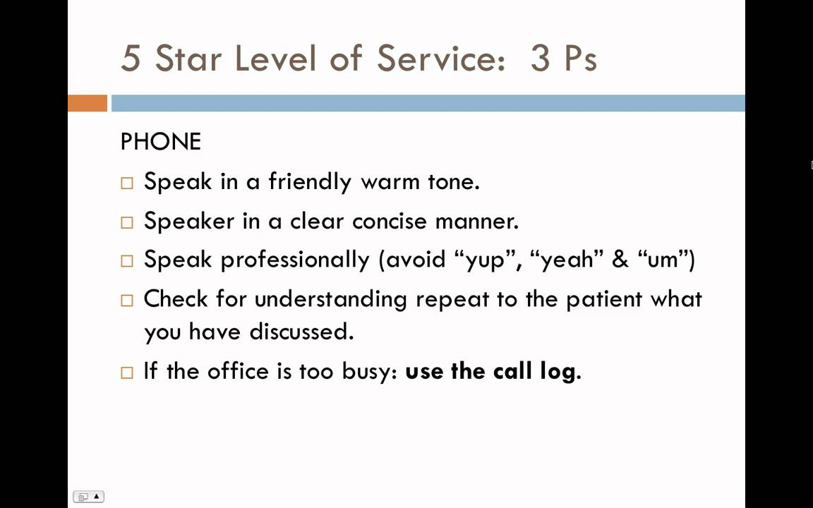 Customer Service Training Module 1: The Three Ps