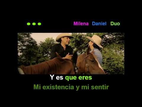 Daniel Gualdron con Milena Benites - Adoro (Karaoke)
