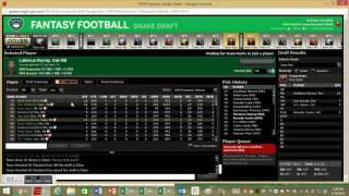 Live Fantasy Football Standard 10 Team Mock Draft