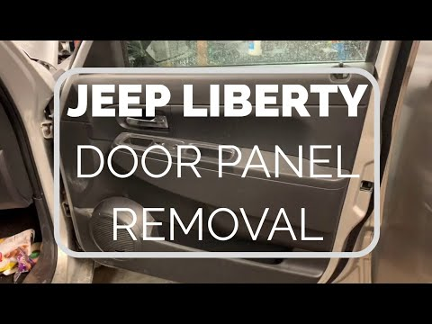 Jeep Liberty door panel removal/Mirror replacement