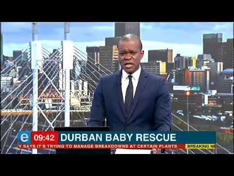 Durban baby rescued from storm water drain