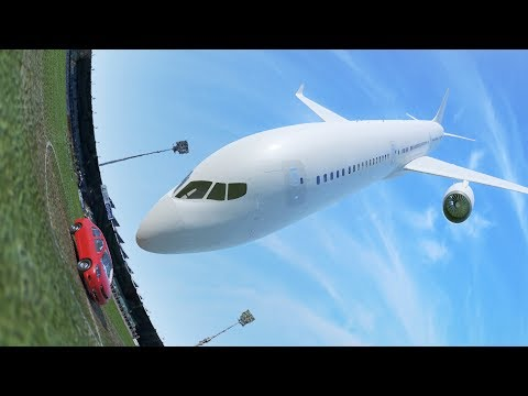 "Car vs. Plane - ""oddly satisfying video"""
