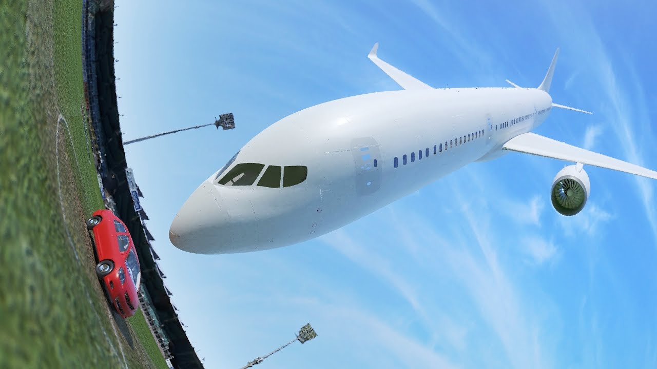 Car vs. Plane - Crash Simulation Animation