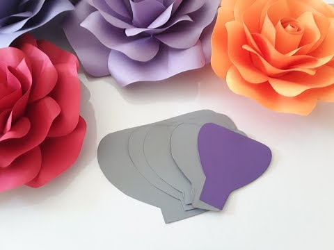 DIY Paper Rose Template Making Tutorial