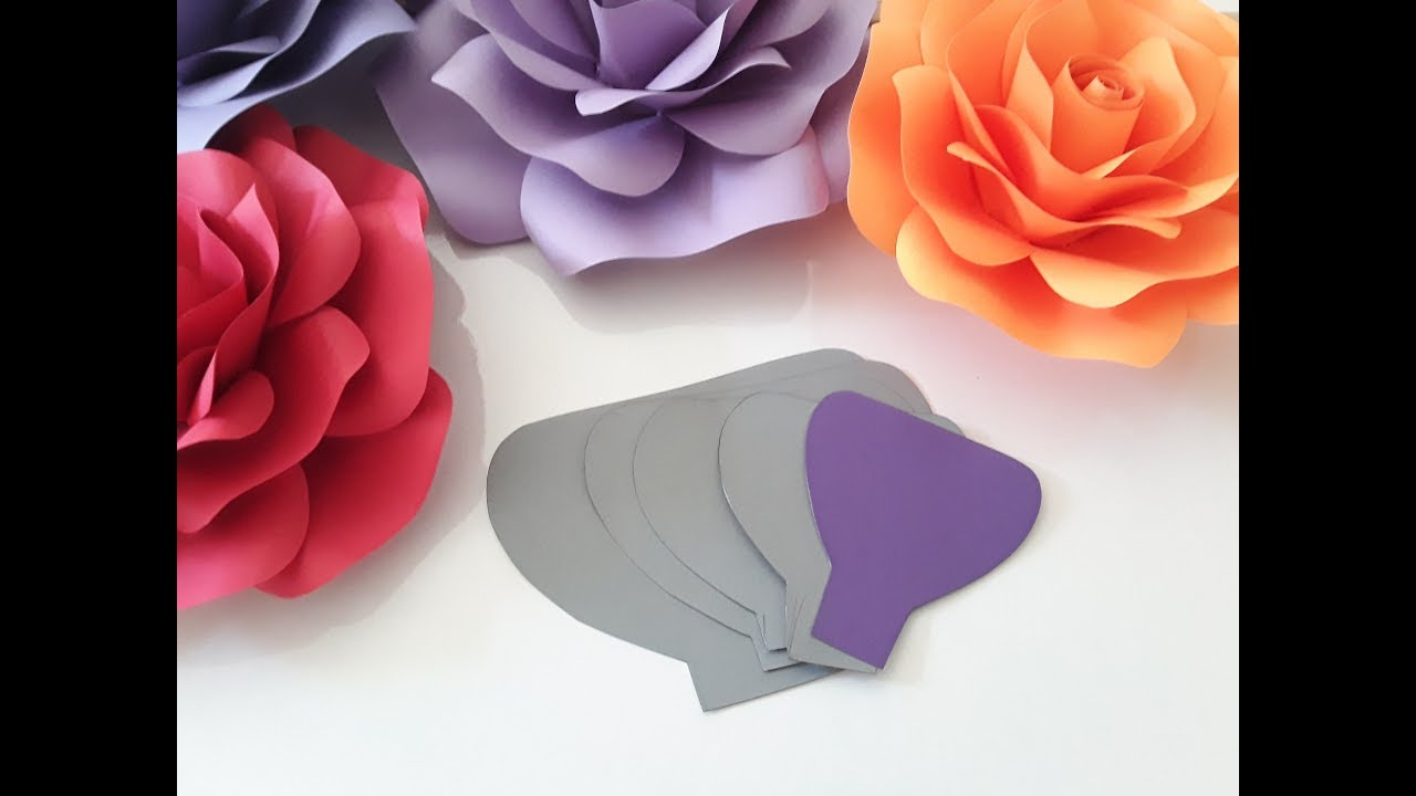 Diy Paper Rose Template Making Tutorial Youtube