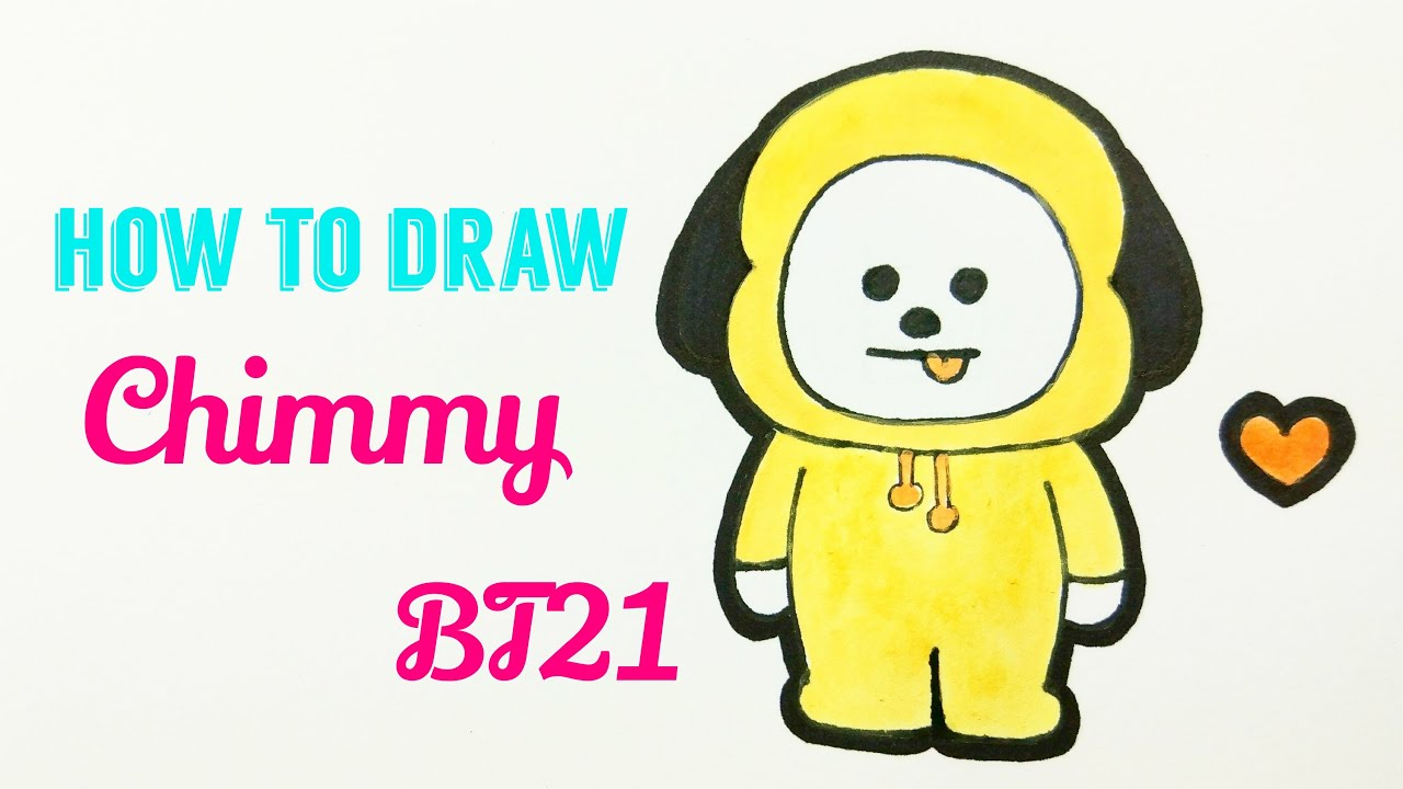 Awesome Chimmy Bts Drawings wallpapers to download for free greenvirals