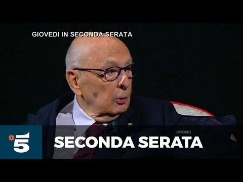 L'intervista - Giorgio Napolitano - Giovedì 20 ottobre, Seconda Serata, Canale 5