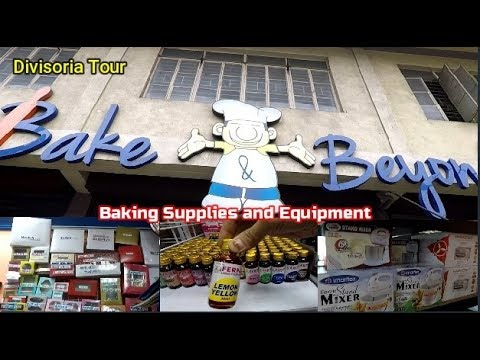 Divisoria Tour - Bilihan Ng Baking Supplies And Equipment Malapit Sa Divi