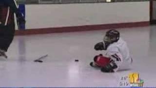 Sarah Caldwell Hits The Ice Hockey Rink