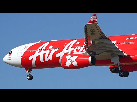 HD Indonesia AirAsia X A330-343 - Landing at Melbourne Airport Australia [PK-XRA]