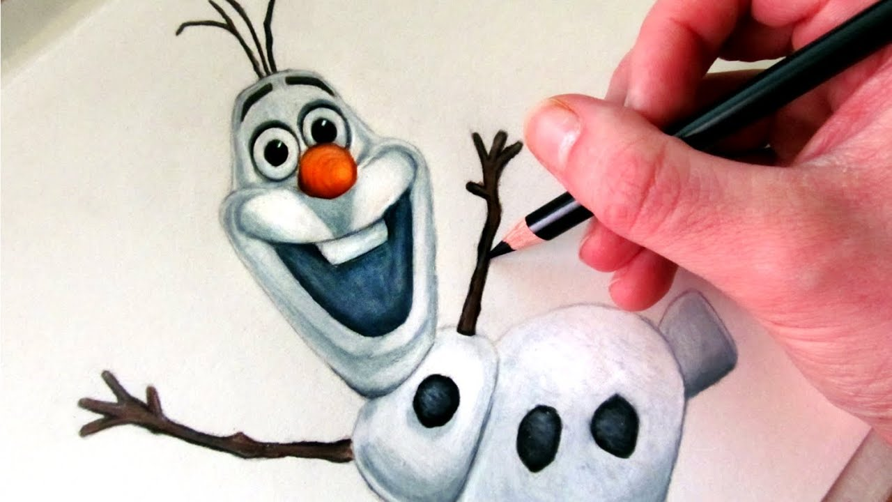 How to Draw Olaf from Frozen - YouTube