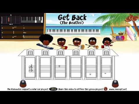 How to play : Get Back (The Beatles) - Tutorial / Karaoke / Chords / Score / Cover