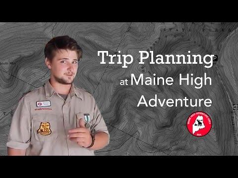 Trip Planning at Maine High Adventure