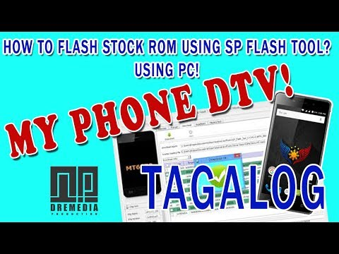 How To Flash Stock Rom To Any Mediatek PHONE Myphone A9 DTV LOGO ONLY Tagalog!