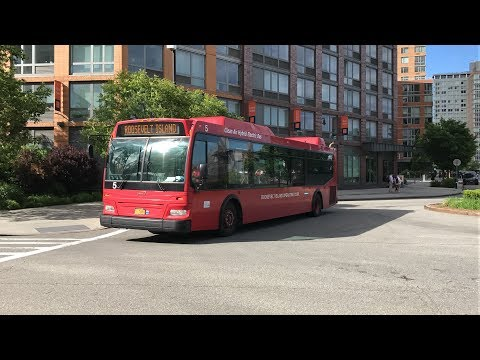 Riding NYC Roosevelt Island Red Bus Loop Full Journey (HD 60fps) 5/26/17