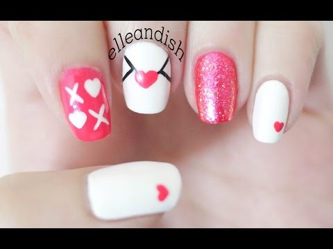 ❤ Valentine's Day Nails: Love Note (Bobby Pin + Toothpick) ❤