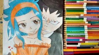 Drawing Levy e Gajeel (Amor está no ar #3) Fairy tail