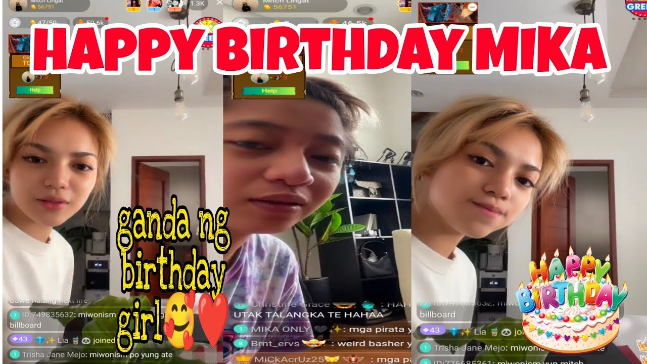 Download MIKA SALAMANCA , MITCH LINGAT , BIANCA , VON , DIREK BIGO LIVE (HAPPY BIRTHDAY MIKA❤️) PART3