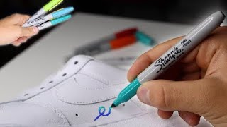 Custom SHARPIE Air Force 1!!  (Giveaway)