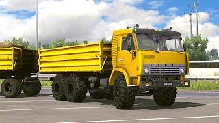 Мультик про желтый грузовик КамАЗ. Мультфильмы для мальчиков про технику.