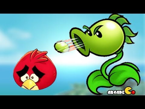 Angry Birds vs Peashooter - Angry Birds & Plants vs Zombies from YouTube · Duration:  5 minutes 20 seconds