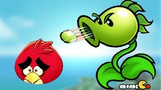 Angry Birds vs Peashooter - Angry Birds & Plants vs Zombies