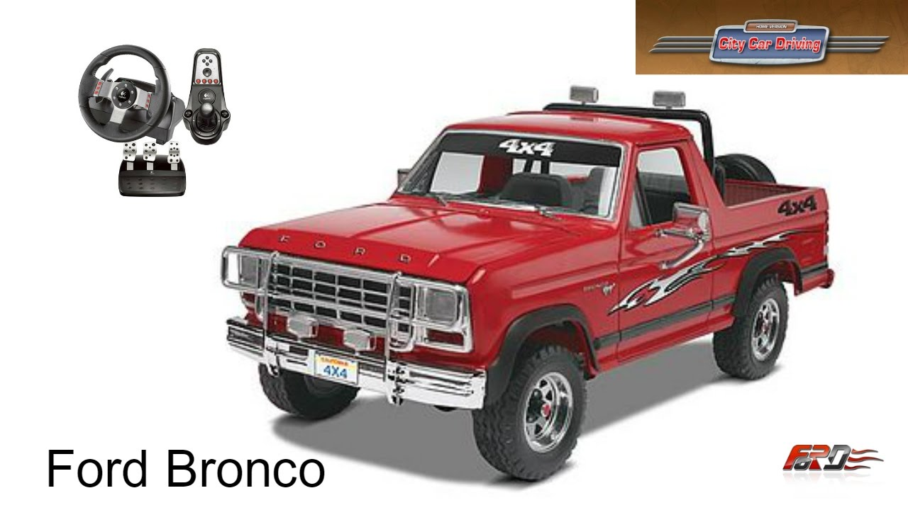 Ford bronco off road city car driving