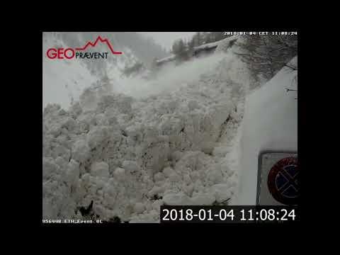 Large Avalanche Between Täsch And Zermatt!!