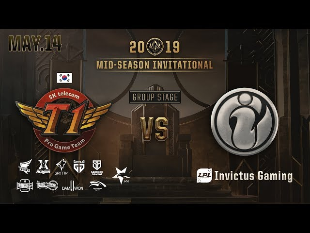 SK Telecom T1 vs Invictus Gaming (MSI GROUP STAGE 하이라이트/19.05.14)[2019 MSI]