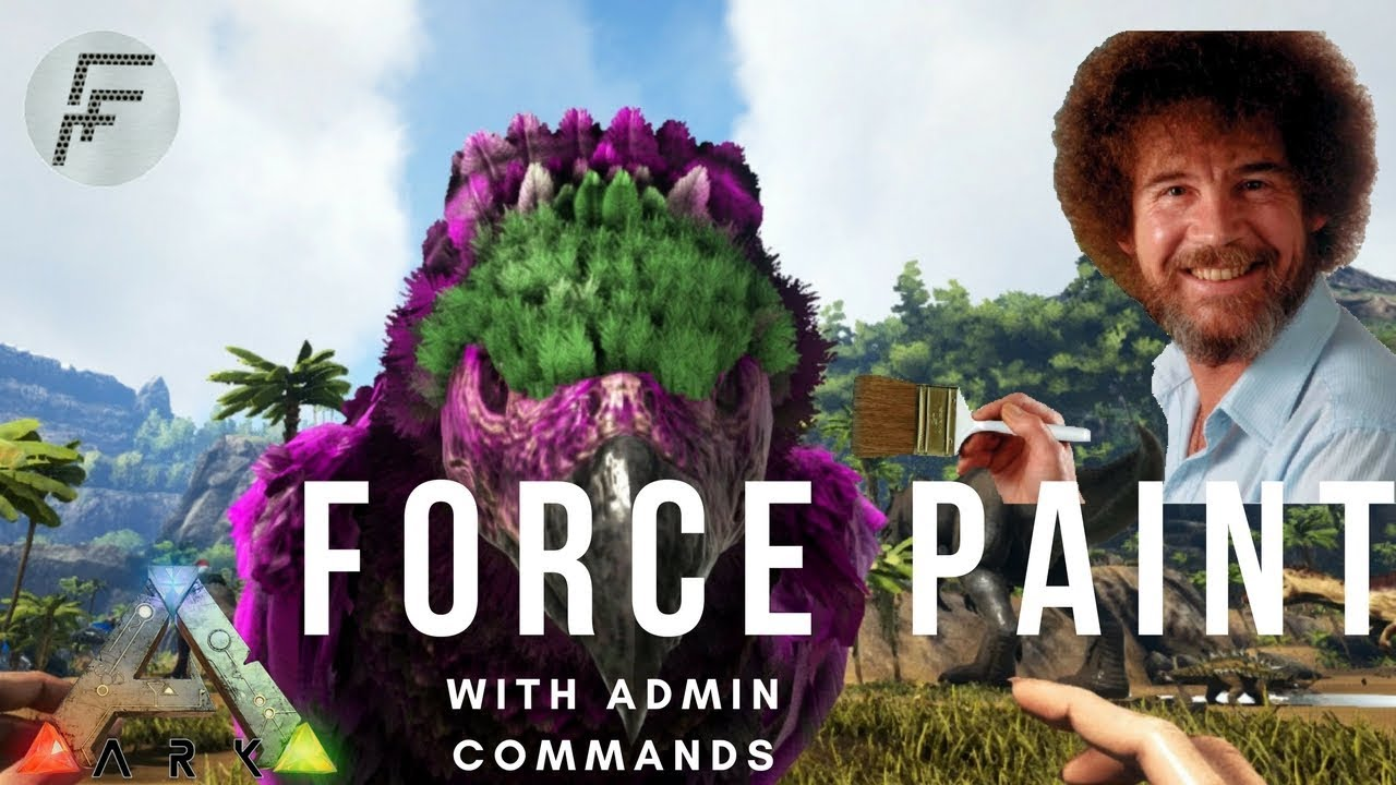 Paint Dino's with Admin Commands - ARK: Survival Evolved