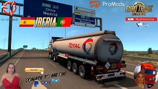 Euro Truck Simulator 2 (1.39)   Trailer Schwarzmuller Pack v1.0 [Schumi] [1.39] Delivery to Embalse de Contreras Spain Iberia DLC Promods map v2.51 Animated gates in companies v3.7 [Schumi] Real Company Logo v1.0 [Schumi] Company addon v1.9 [Schumi] Trailers and Cargo Pack by Jazzycat Motorcycle Traffic Pack by Jazzycat FMOD ON and Open Windows Naturalux Graphics and Weather Spring Graphics/Weather v3.6 (1.38) by Grimes Test Gameplay ITA Europe Reskin v1.0 + DLC's & Mods od adds 2 Schwarzmuller trailers to game,  for purchase in ownable. - Curtain - Fuel tank https://forum.scssoft.com/viewtopic.php?f=36&t=293220  For Donation and Support my Channel https://paypal.me/isabellavanelli?loc...  SCS Software News Iberian Peninsula Spain and Portugal Map DLC Planner...2020 https://www.youtube.com/watch?v=NtKeP... Euro Truck Simulator 2 Iveco S-Way 2020 https://www.youtube.com/watch?v=980Xd... Euro Truck Simulator 2 MAN TGX 2020 v0.5 by HBB Store https://www.youtube.com/watch?v=HTd79...  All my mods I use in the video Promods map v2.51 https://www.promods.net/setup.php Traffic mods by Jazzycat https://sharemods.com/hh8z6h9ym82b/pa... https://sharemods.com/lpqs4mjuw3h6/ai... https://ets2.lt/en/painted-bdf-traffi... https://sharemods.com/eehcavh87tz9/bu... Graphics mods https://download.nlmod.net/ https://grimesmods.wordpress.com/2017... Europe Reskin https://forum.scssoft.com/viewtopic.p... Trailers pack https://ets2.lt/en/trailers-and-cargo... https://tzexpress.cz/ Others mods Company addon v1.8 [Schumi] https://forum.scssoft.com/viewtopic.p... Real Company Logo v1.3 [Schumi] https://forum.scssoft.com/viewtopic.p... Animated gates in companies v3.8 [Schumi https://forum.scssoft.com/viewtopic.p...  #TruckAtHome #covid19italia Euro Truck Simulator 2    Road to the Black Sea (DLC)    Beyond the Baltic Sea (DLC)   Vive la France (DLC)    Scandinavia (DLC)    Bella Italia (DLC)   Special Transport (DLC)   Cargo Bundle (DLC)   Vive la France (DLC)    Bella Italia (DLC)    Baltic 
