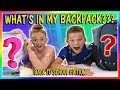 WHAT'S IN MY BACKPACK? | BACK TO SCHOOL EDITION | We Are The Davises