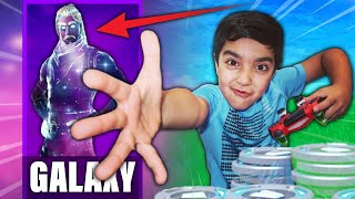 So, if my 6 year old little wins a game in FORTNITE... I will buy him the RARE GALAXY SKIN!