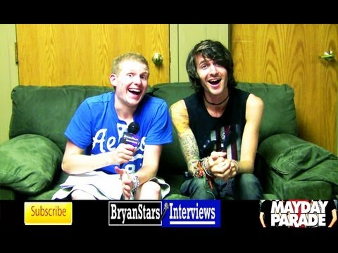 Mayday Parade Interview #6 Derek Sanders Warped Tour 2012