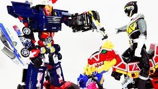 카봇 펜타스톰과 파워레인저 다이노포스 티라노킹 변신 조립(Carbot PentaStorm &Tobot Deltatron Transformation) 레드다이노