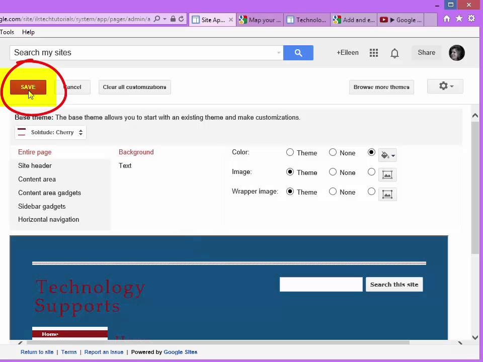 google sites changing color fonts and themes youtube