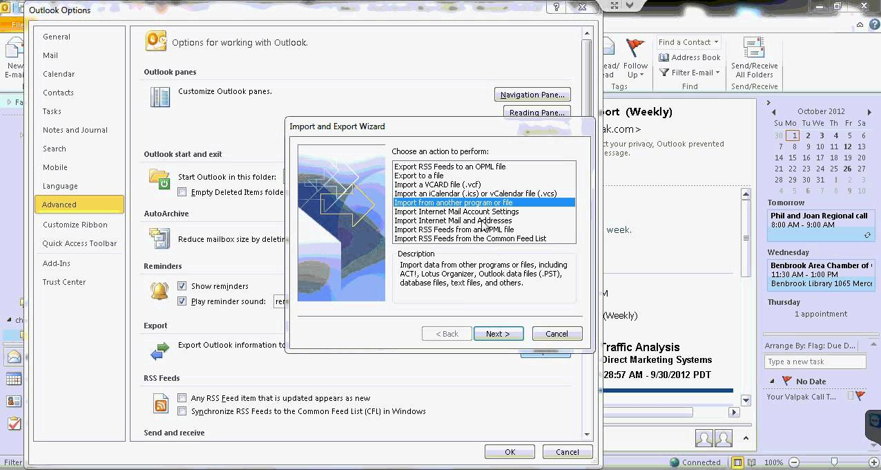 how to work microsoft outlook 2010