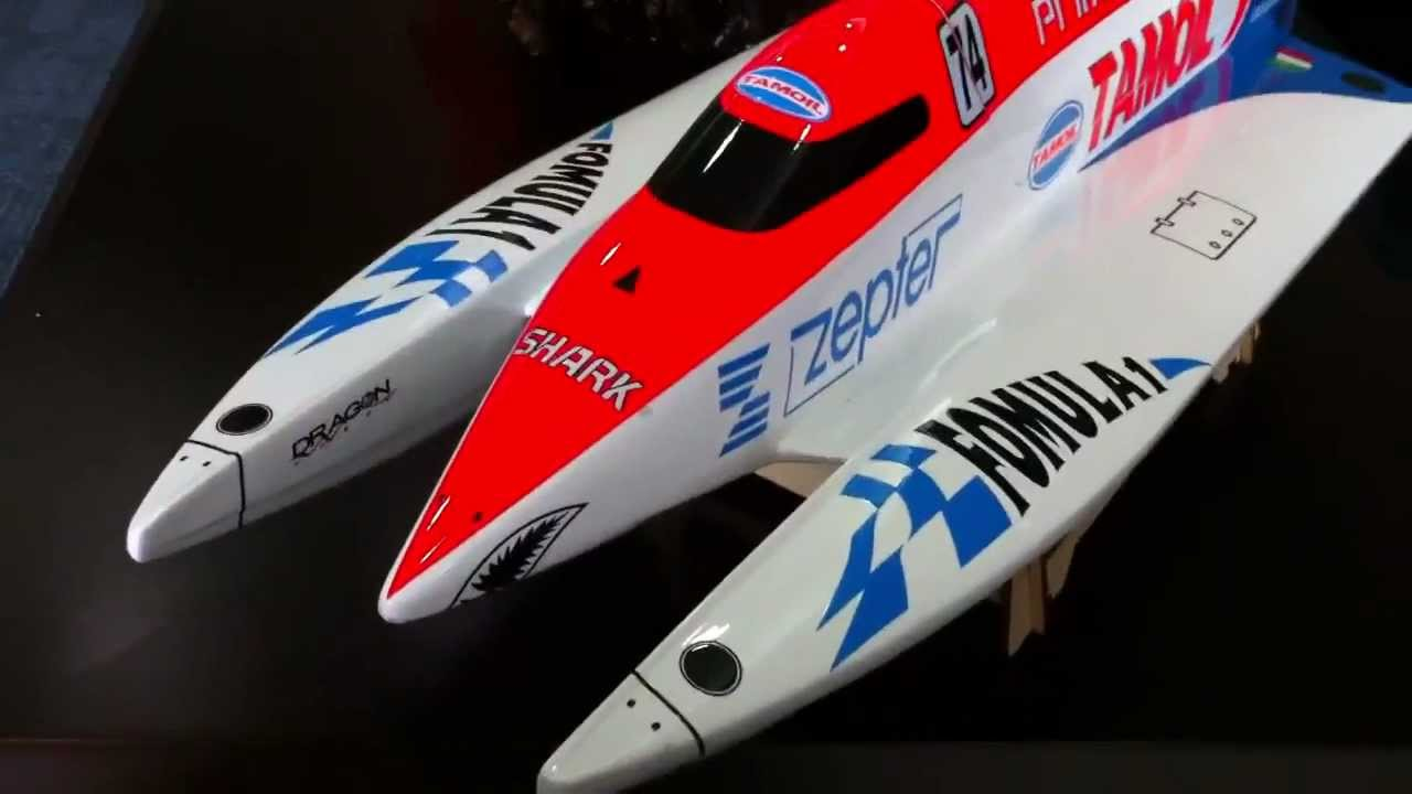 Rc brushless electric F1 Formula 1 Powerboat TAMOIL tunnel ...