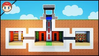 Minecraft: How to Build a Secret Base Tutorial (#5) - Easy Hidden House