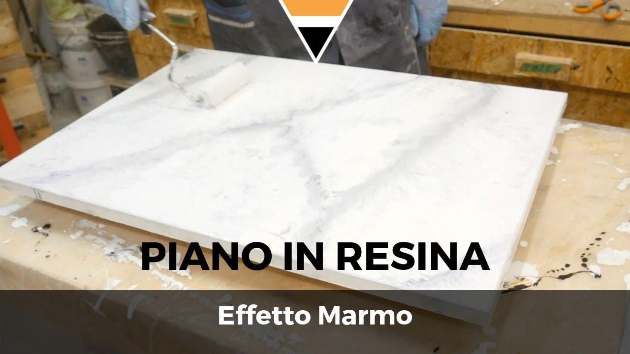 """Top Cucina In Resina piano in resina epossidica """"effetto marmo"""" fai da te"""