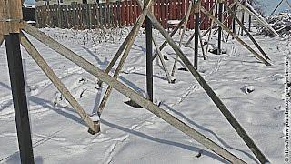 BC: Установка заборных столбов. Подготовка, выравнивание, бетонирование, обрезка(Группа ВК: http://vk.com/engiclub., 2014-10-22T17:46:32.000Z)