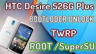 HTC DESIRE 526G+ BOOTLOADER UNLOCKING 'TWRP  simple  tutorial