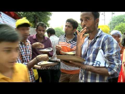 Free food during Jagannath Rath Yatra in Delhi