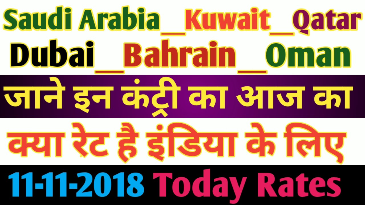 How To Check Gulf Country Today Indian Rates In Hindi Urdu,,By Raaz Gulf  News