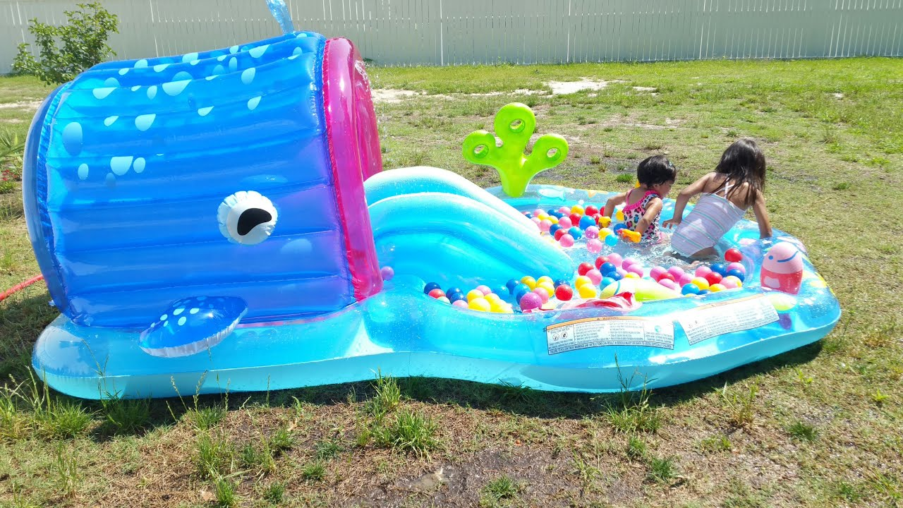 Intex Whale Play Center Pool Infantil Youtube
