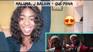 Maluma, J Balvin - Qué Pena (Official Music Video) | REACTION