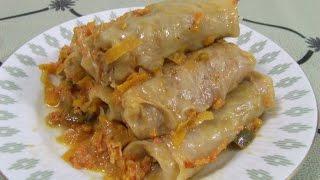 Голубцы с мясом  Голубцы домашние вкусные Видео рецепт